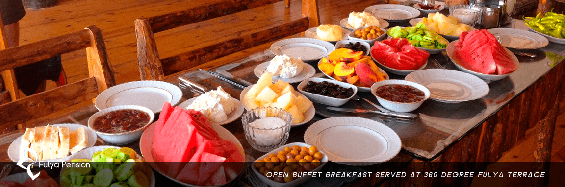 Egirdir open buffet breakfast